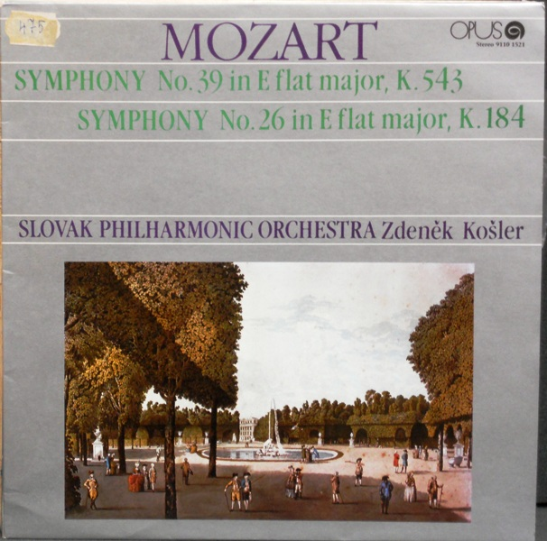 Symphony no. 39 in E flat major, K. 543, Symphony No. 26 in flat major, K. 184 - Mozart